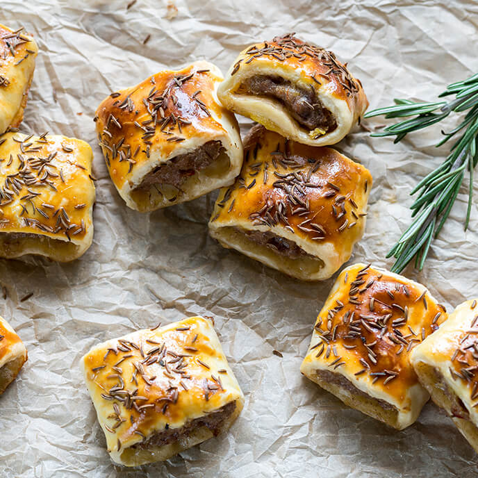Rock the party with some delicious sausage rolls